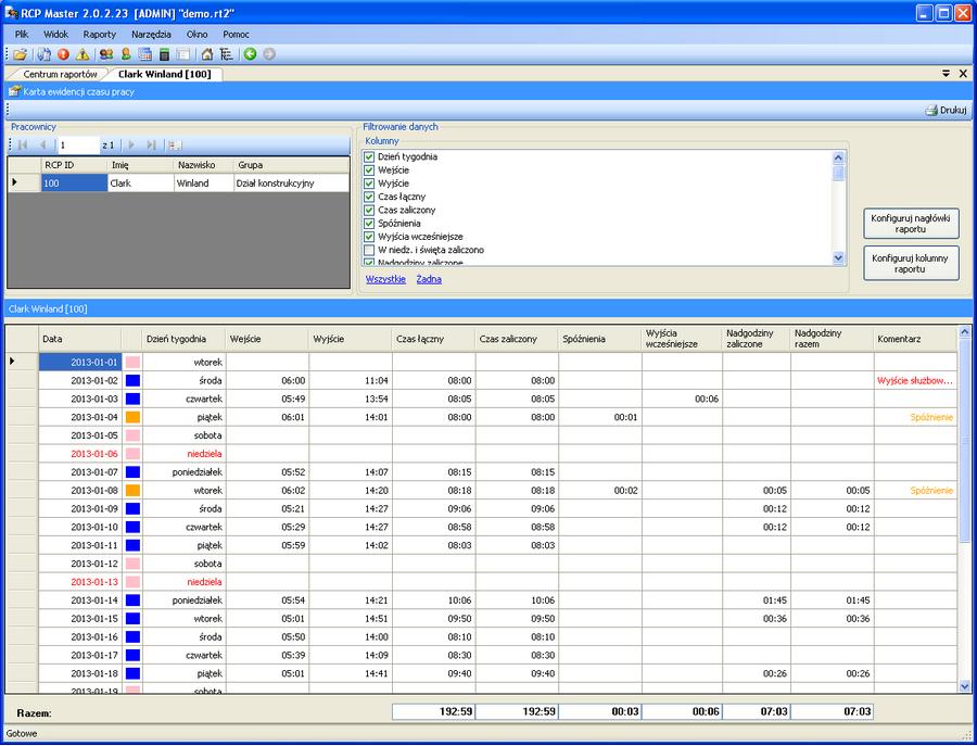 oprogramowanie rejestracja czasu pracy (RCP) Rejestracja czasu pracy oprogramowanie